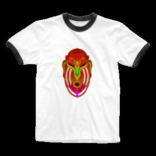 かめれおん芸術工房*渡邉帆南美のカレヤマカラ Ringer T-shirts