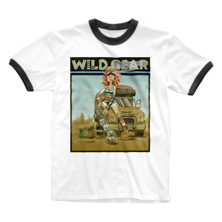 nidan-illustrationのWILD GEAR Ringer T-shirts