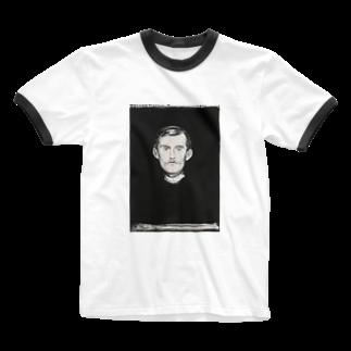 Art Baseのムンク / 1896 / Self-Portrait I / Edvard Munch Ringer T-shirts