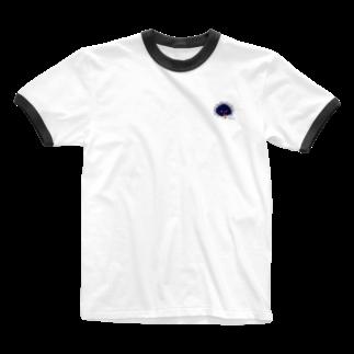 おもち屋さんのタピオカうに Ringer T-shirts