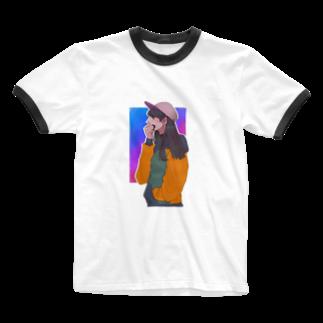 うまみのカジュアル女 Ringer T-shirts
