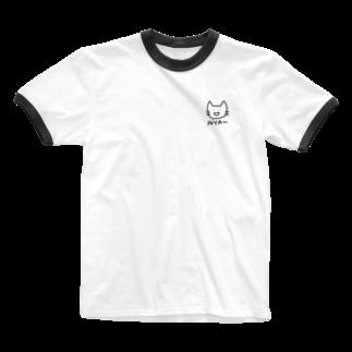 つっこみ処のミニにゃ〜 Ringer T-shirts