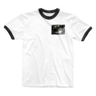 桜溜まりT Ringer T-shirts