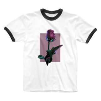 Flower-R Ringer T-shirts