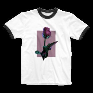 かすみ草のFlower-R Ringer T-shirts