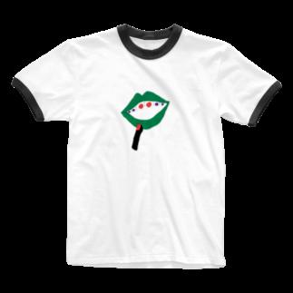 みあしろ。のくち、めだま。 Ringer T-shirts