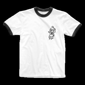 (,,π . π,,)の(,,τ . τ,,)「Hi!」 Ringer T-shirts