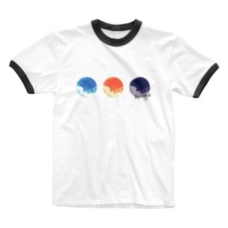 Sky signal. Ringer T-shirts