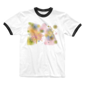 Saint SKの山ノ花 Ringer T-shirts
