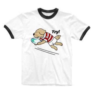 ラグビー1(前面) Ringer T-shirts