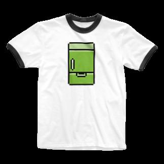カットボスの冷蔵庫 Ringer T-shirts