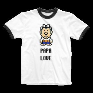カットボスのカットボス - パパ大好き Ringer T-shirts