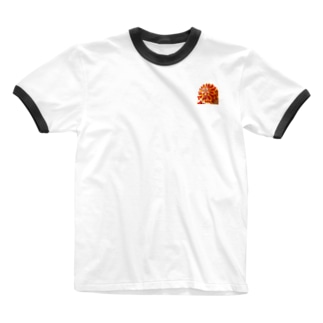 赤花咲いた Ringer T-shirts