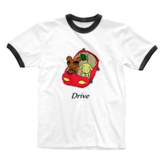 バカンス・Drive  Ringer T-shirts