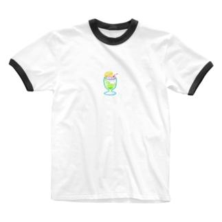 クリームソダTシャツ(えりつき) Ringer T-shirts