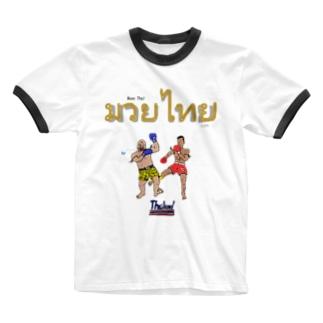 【ムエタイ】前プリント Ringer T-shirts