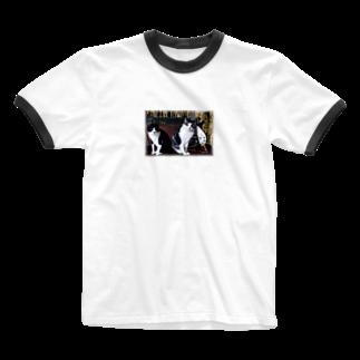 nogiku-designのNo.2 スポンキーさんリクエスト♪ Ringer T-shirts