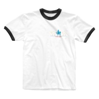 ラクダクンたち Ringer T-shirts