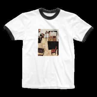 Art Baseのエゴン・シーレ / 1911 /Schiele's Room in Neulengbach / Egon Schiele Ringer T-shirts