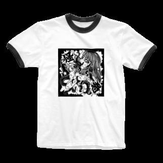 あかいろちゃんねるの怪奇なタコさん Ringer T-shirts