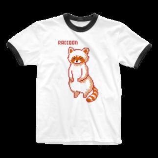 m :)のアライグマ Ringer T-shirts