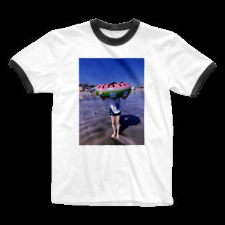 かいちょーの行きつけの茜SUMMER Ringer T-shirts