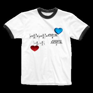 にゃんたみ屋の数学公式シリーズ4~円の方程式 Ringer T-shirts