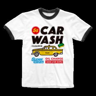 BUSCEMISのCAR WASH Ringer T-shirts
