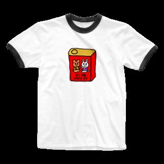 Candy Candyのアニマルドロップス Ringer T-shirts
