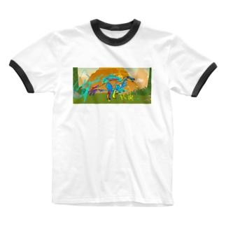 さうるす Ringer T-shirts