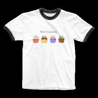 Myo's handmadeのBear Cupcake Ringer T-shirts