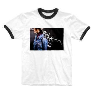 路地裏 Ringer T-shirts