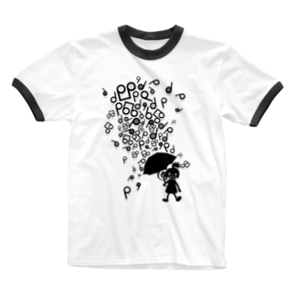 AURA_HYSTERICAのSingin' in the Rain Ringer T-shirts