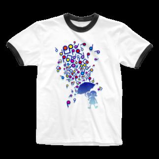 AURA_HYSTERICAのSingin' in the Rain Ringer T-shirts