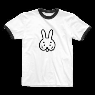 mojimojiのでばぴょん Ringer T-shirts