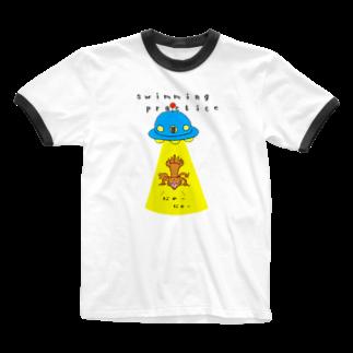 ひよこねこ ショップ 1号店のUFO Ringer T-shirts