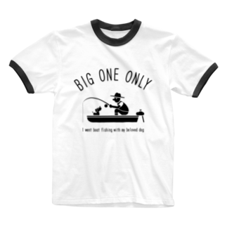 ワカボンドの愛犬とボートフィッシング Ringer T-shirts