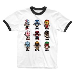 LUCHADOR nueve Ringer T-shirts