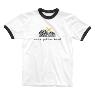 one's yellow bird オリジナルグッズ Ringer T-shirts