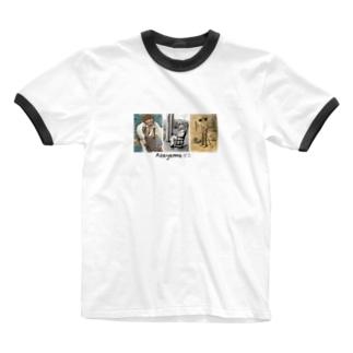 あさやまちゃん Ringer T-shirts