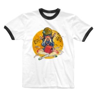 切り傷 Ringer T-shirts