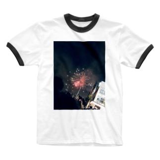 花火 Ringer T-shirts
