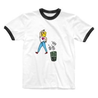NO HATEガール Ringer T-shirts