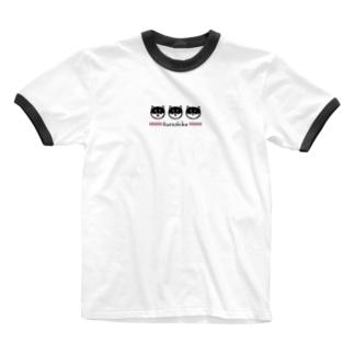 kuroshiba(黒柴) Ringer T-shirts