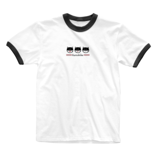 MH shopのkuroshiba(黒柴) Ringer T-shirts