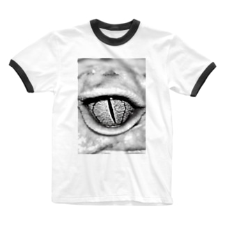 gecko leopard eye Ringer T-shirts