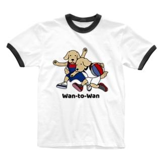バスケット1(前面) Ringer T-shirts