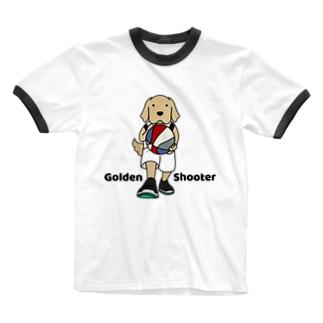バスケット2(前面) Ringer T-shirts
