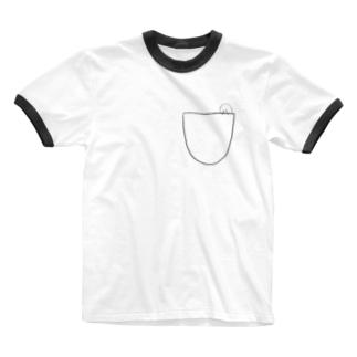 ポケットのスキマさん Ringer T-shirts