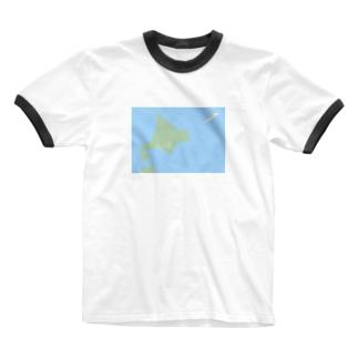 抽象化された北海道先輩 Ringer T-shirts